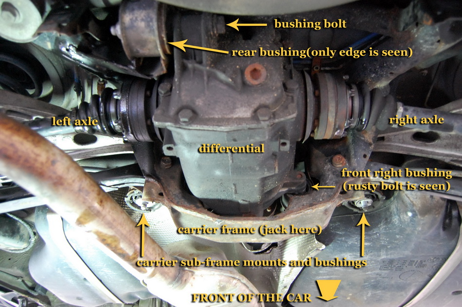 DIY : Replacing rear differential bushings (mounts) aka notorious